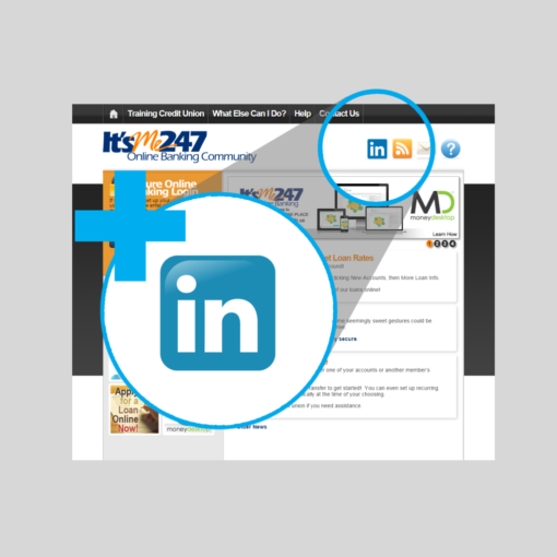 Add LinkedIn to your Online Banking Community